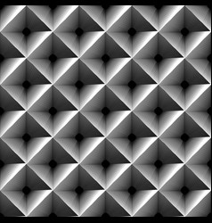 Grayscale geometric pattern with outline of vector