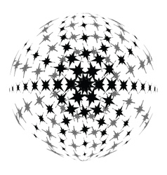 Halftone 3D vector image