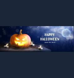 Happy halloween holiday banner vector