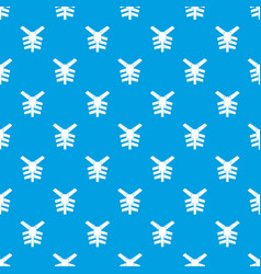 Human thorax pattern seamless blue vector