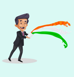 Indian boy cartoon vector