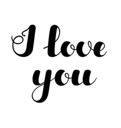 inspirational lettering i love you black color vector image