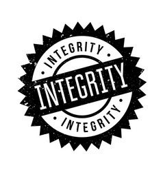 Integrity rubber stamp vector