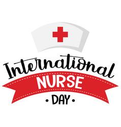 International nurse day logo with nurses cap vector
