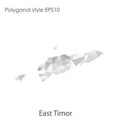 Isolated icon east timor map polygonal vector