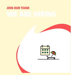 join our team busienss company beach we are vector image