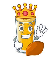 King lassi mango in the character fridge vector