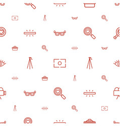 lens icons pattern seamless white background vector image
