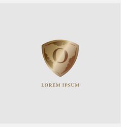 Letter o alphabet logo design template luxury vector