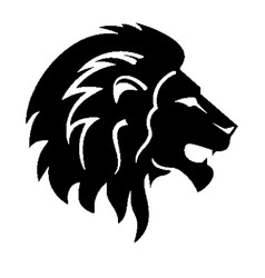 Lion head silhouette vector