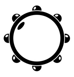 little drums icon simple style vector image