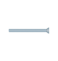Long carriage bolt isolated on white background vector