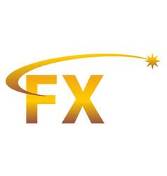 Modern solution letter f x vector