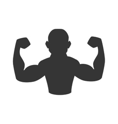 Muscle arm man gym icon graphic vector