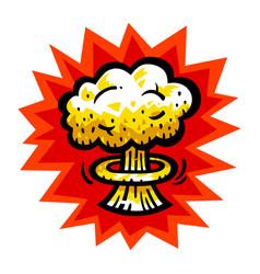 Mushroom cloud atomic nuclear bomb explosion vector