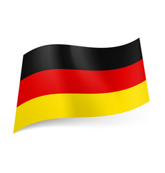 National flag of germany black red and yellow vector