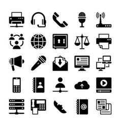 Network and communication icons 5 vector