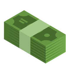 Packed dollars icon isometric style vector