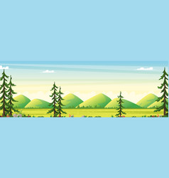 panorama summer landscape vector image