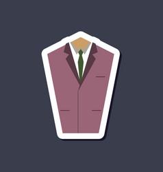 Paper sticker on stylish background mans jacket vector