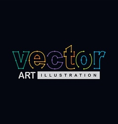 path trace outline logotype theme vector image