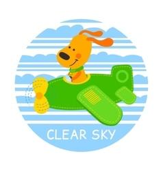 Pilot dog vector