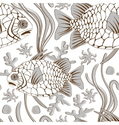 Pinecone fish pattern vector