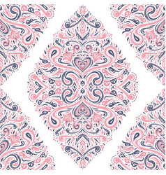 Pink blue and white ethnic seamless pattern vector