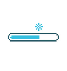 pixel snow status loading bar vector image