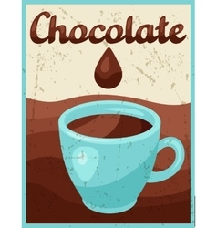 Poster with chocolate bar in retro style vector image