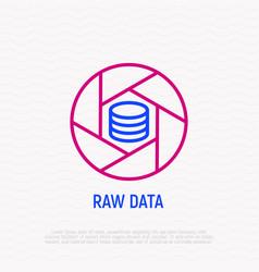 raw data thin line icon vector image