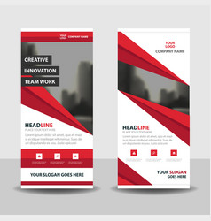 red abstract business roll up banner flat vector image