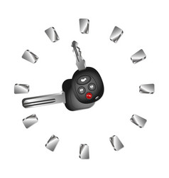 rent a car clock vector image