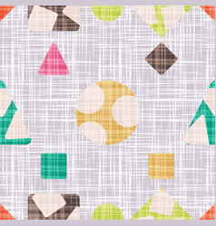 retro pattern for textile with geometric shapes vector image