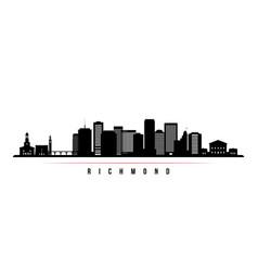 richmond skyline horizontal banner vector image