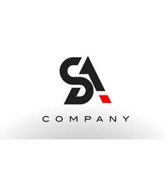 sa logo letter design vector image