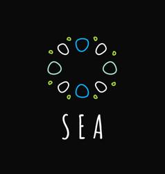 sea life icon underwater logo vector image