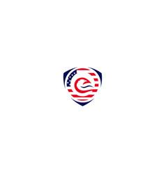 security shield eagle logo design vector image