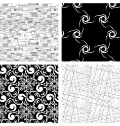 set of 4 textures vector image