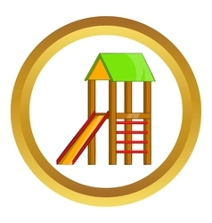 Slide house icon vector