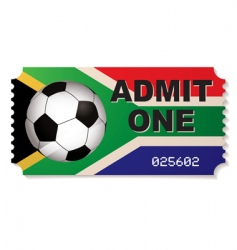 south africa football ticket vector image