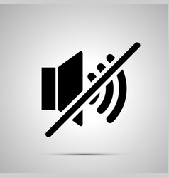 speaker mute simple black icon vector image