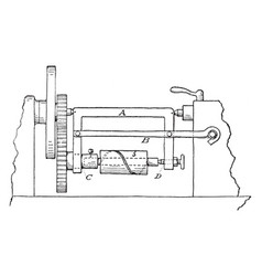 Spiral turning device vintage vector