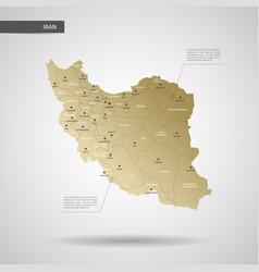 stylized iran map vector image