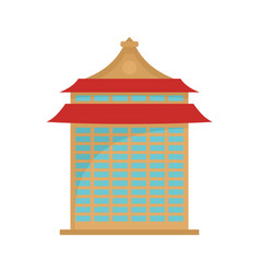 taipei building icon flat style vector image