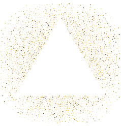 Triangle frame polka dots golden star holiday vector