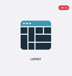 Two color layout icon from user interface concept vector
