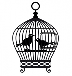 Vintage birdcage graphic vector