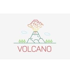 Volcano exploding icon thin line icon modern vector