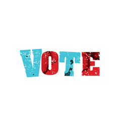 Vote concept colorful stamped word vector